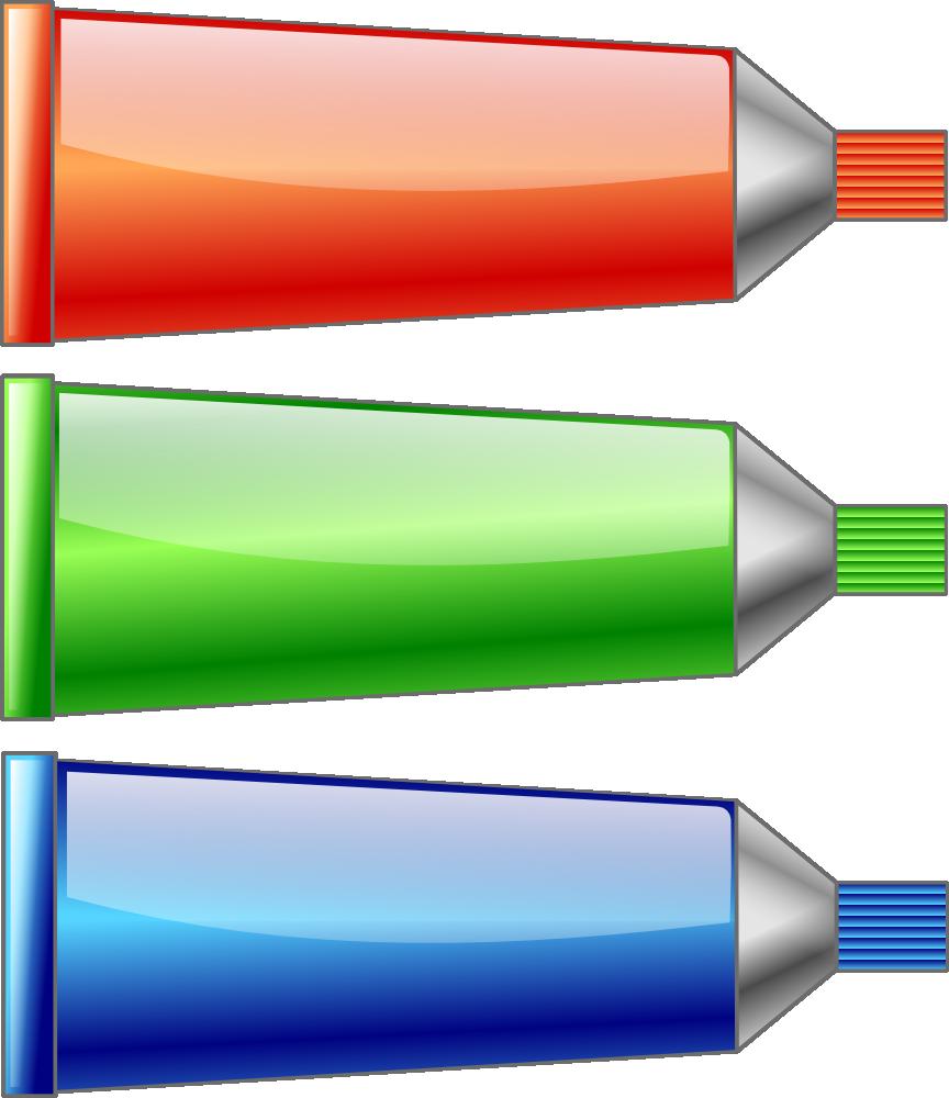 Onlinelabels Clip Art Color Tubes