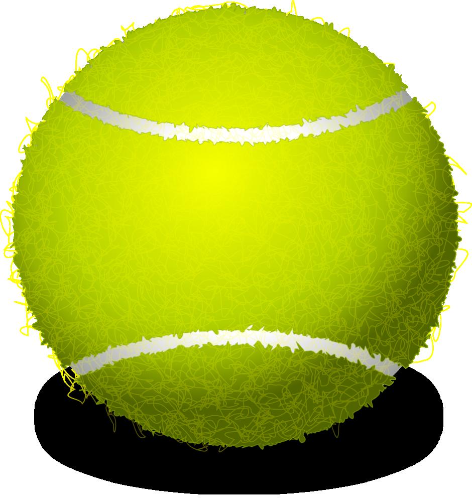 OnlineLabels Clip Art - Realistic Tennis Ball