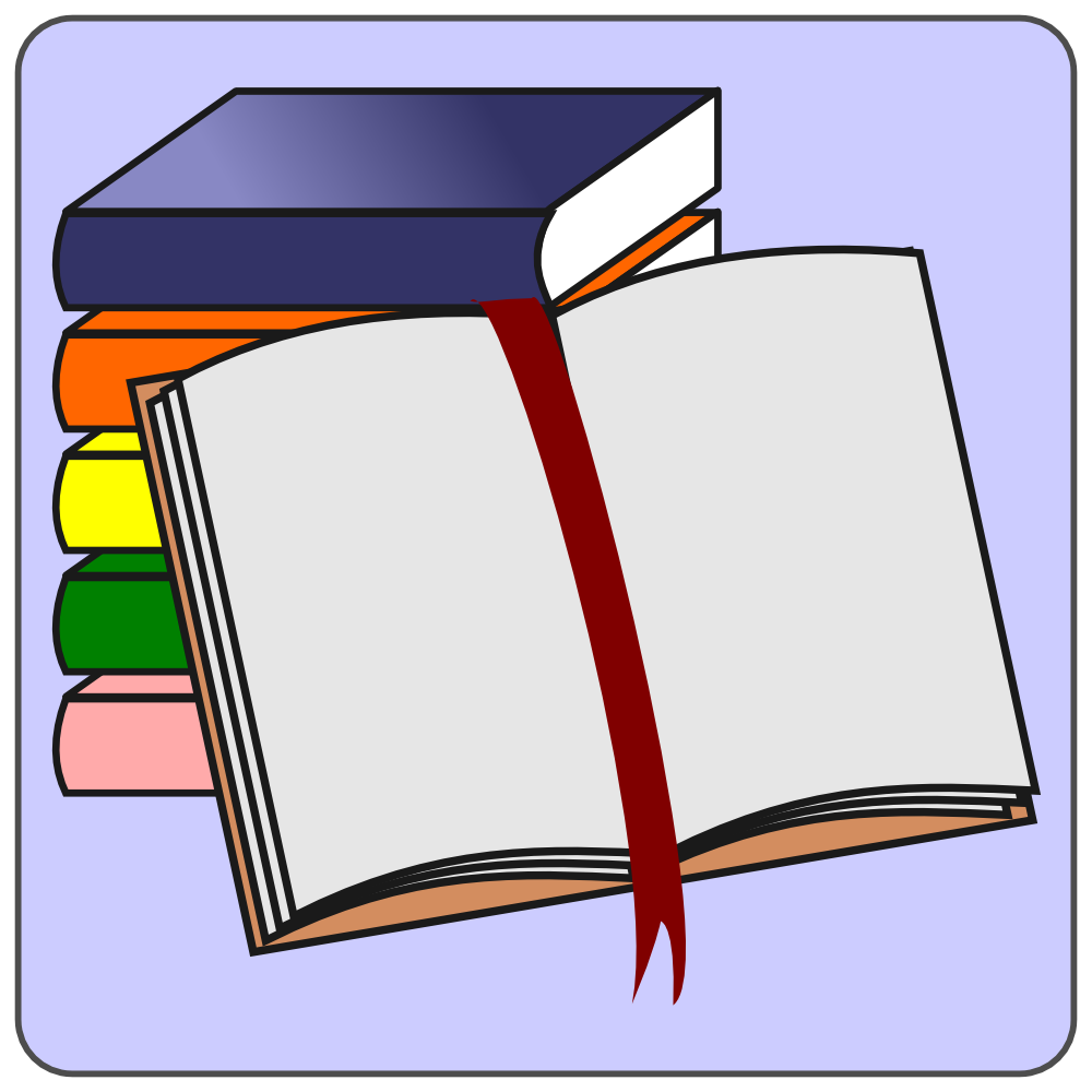 OnlineLabels Clip Art - Books Icon