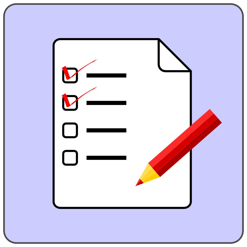 onlinelabels clip art - checklist icon