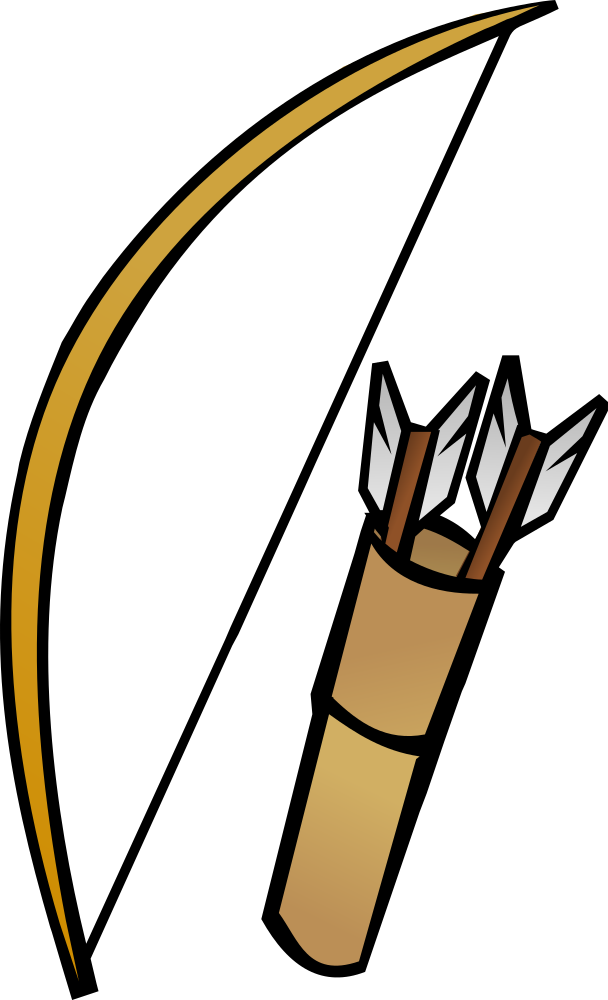 OnlineLabels Clip Art - Bow And Quiver
