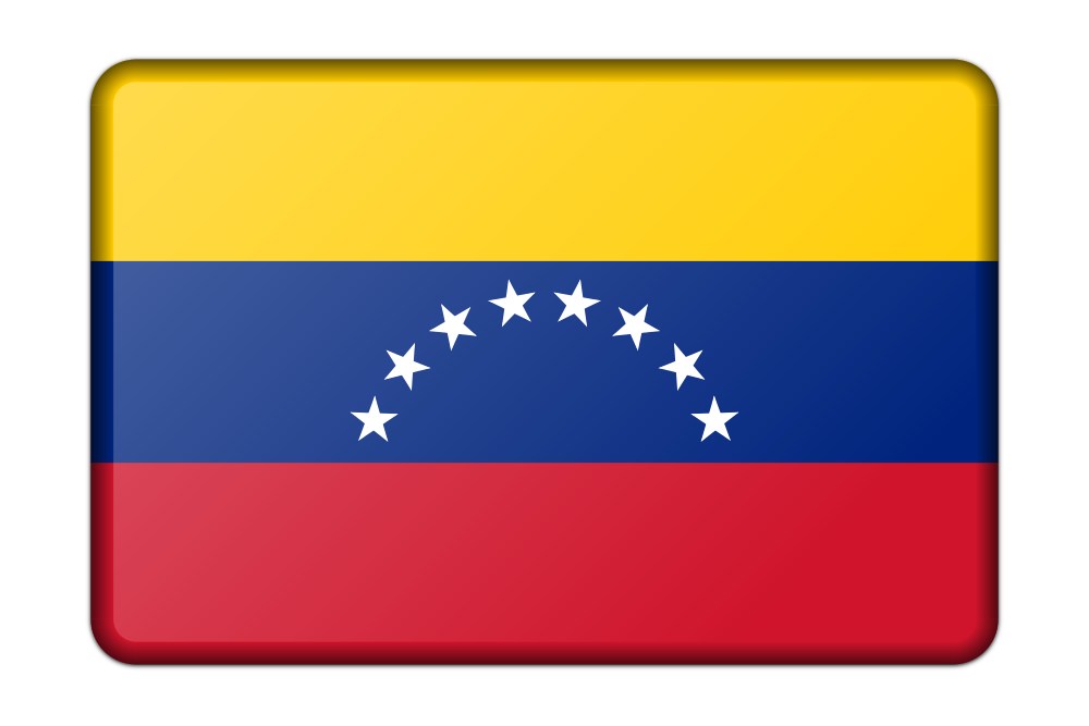 OnlineLabels Clip Art - Flag Of Venezuela (Bevelled)