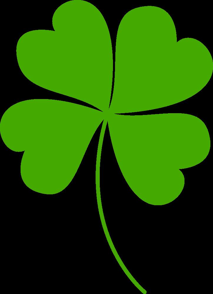 OnlineLabels Clip Art - Four Leaf Clover Vectorized