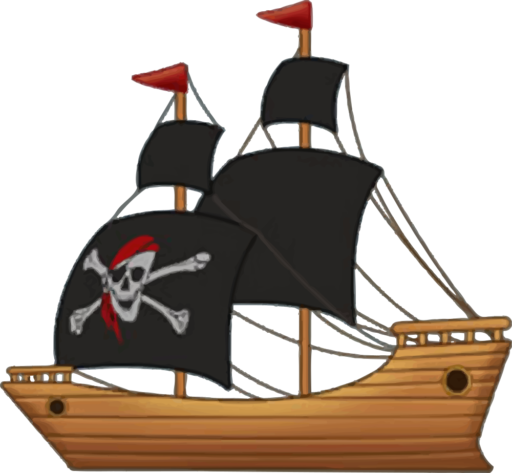 OnlineLabels Clip Art - Pirate Ship