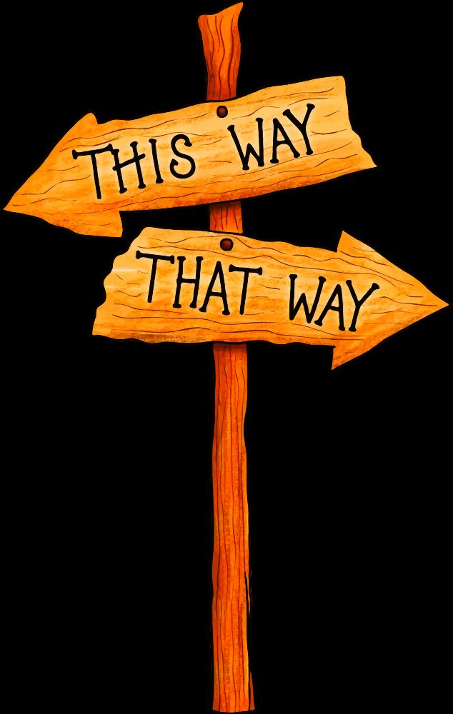 OnlineLabels Clip Art - Signpost 4