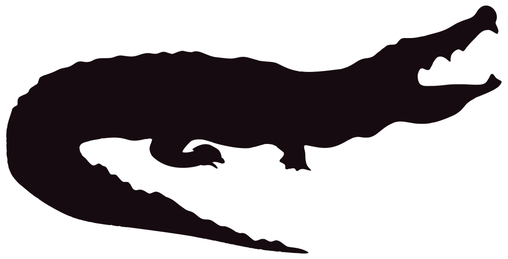 OnlineLabels Clip Art - Alligator Silhouette