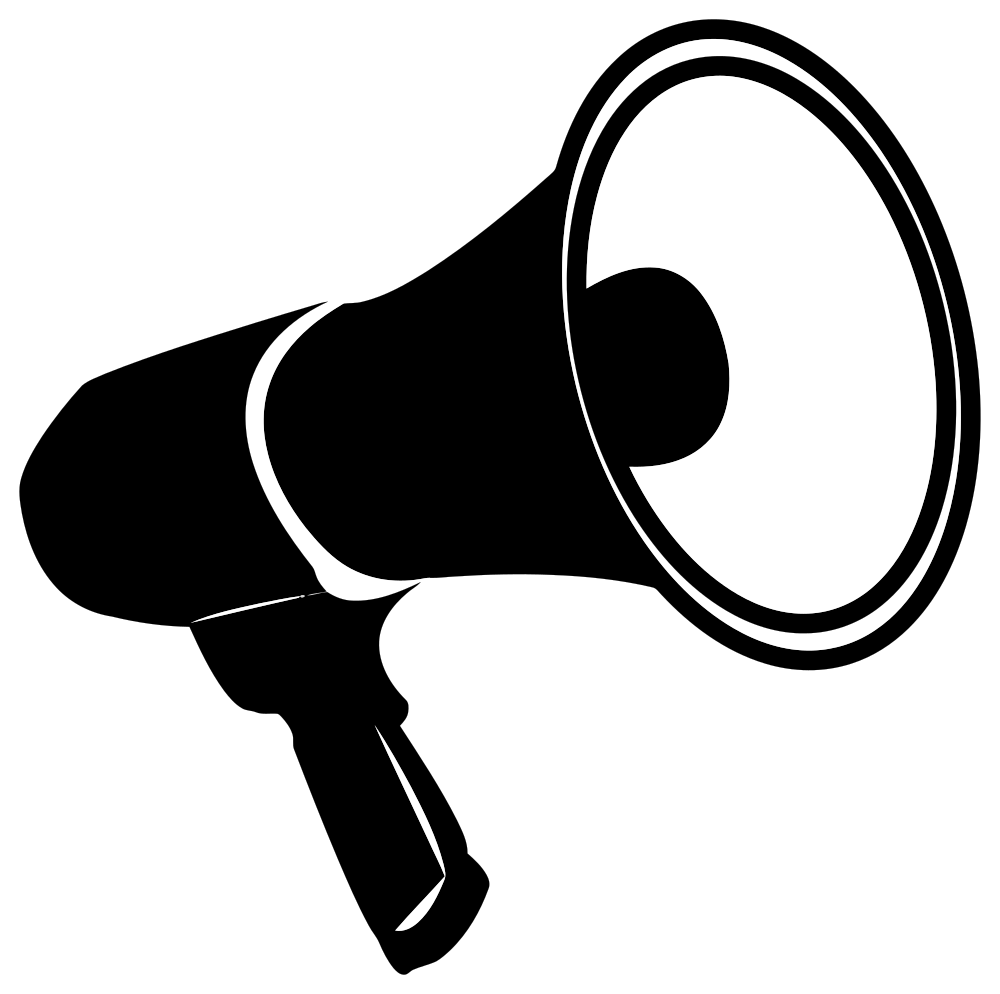 OnlineLabels Clip Art - Bullhorn Silhouette