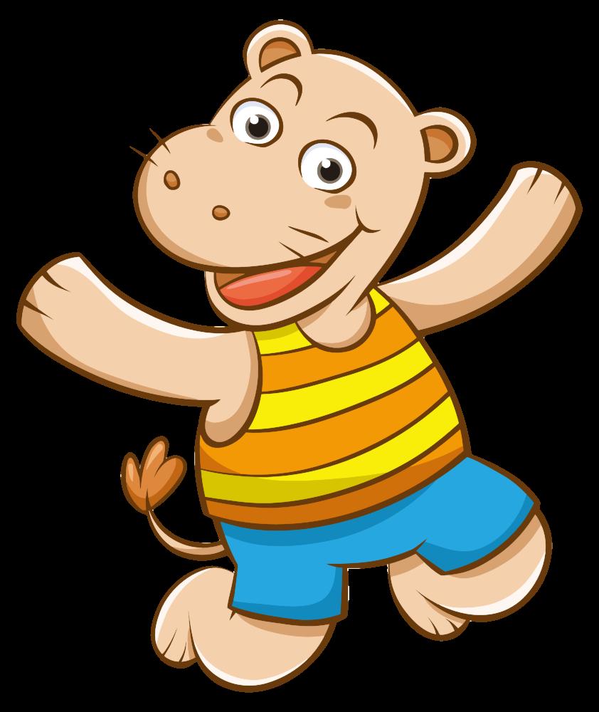 OnlineLabels Clip Art - Cartoon Hippo