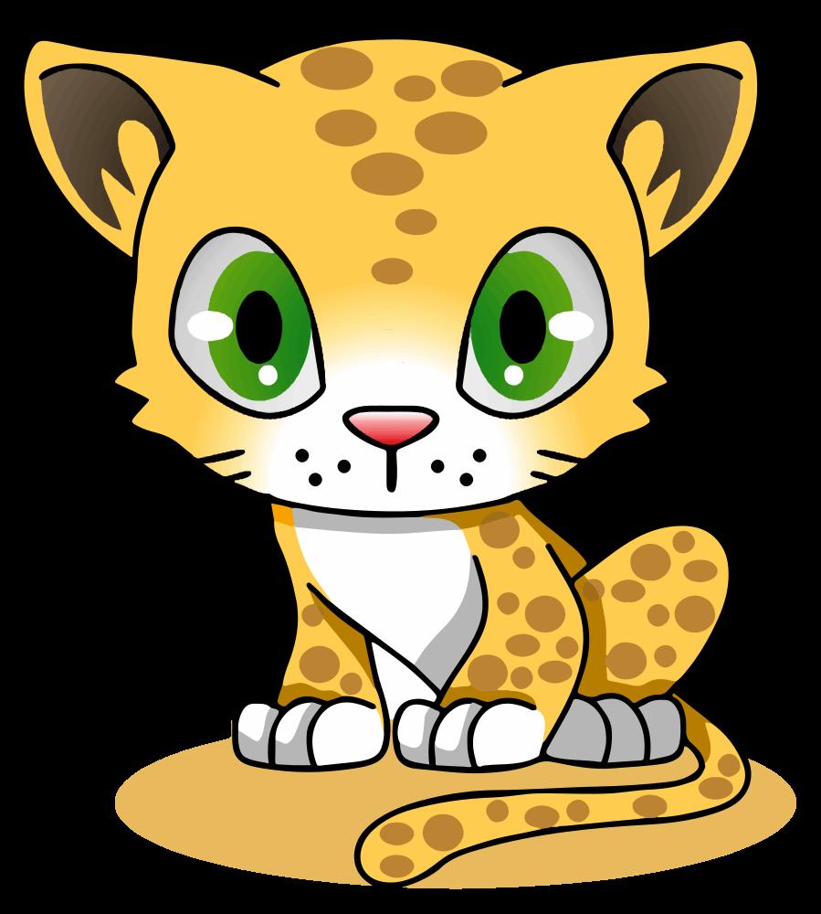 OnlineLabels Clip Art - Cartoon Leopard
