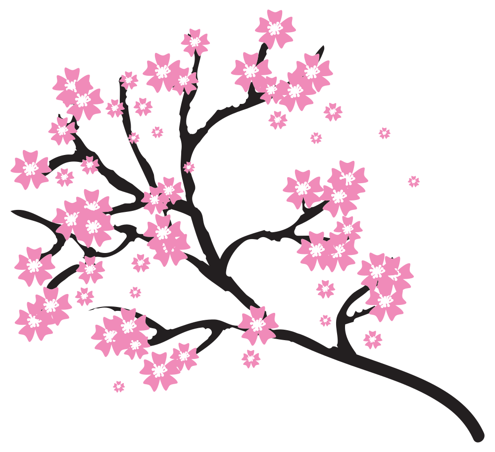 onlinelabels clip art cherry blossoms rh onlinelabels com cherry blossom clipart black and white cherry blossom clipart black and white