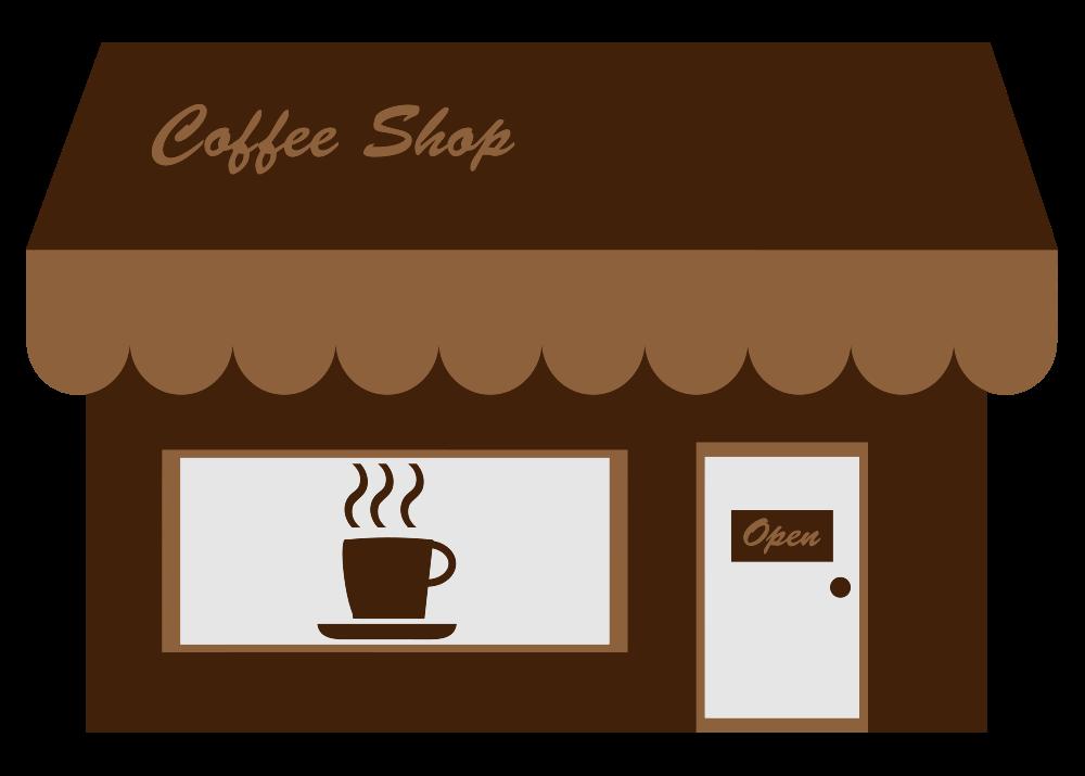 OnlineLabels Clip Art - Coffee Shop Storefront