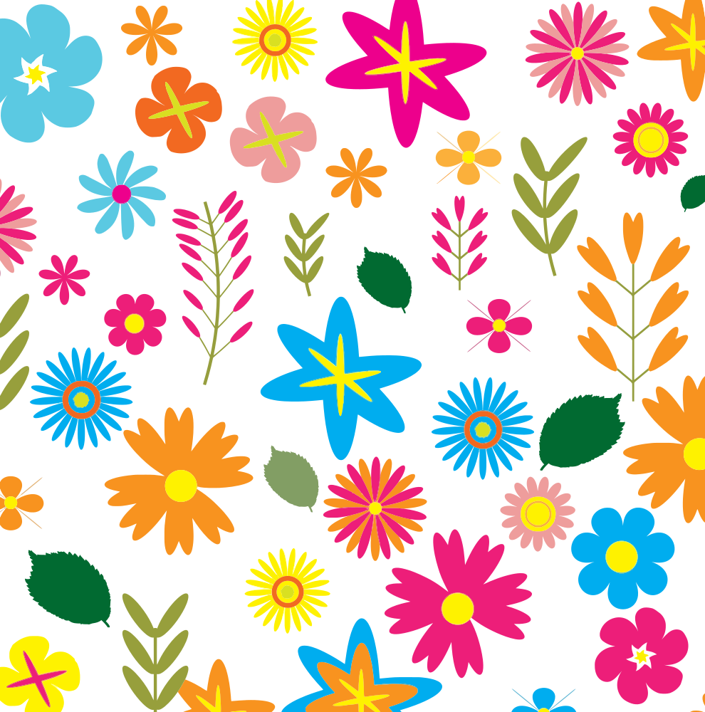 Colorful Floral Pattern Background 3 Onlinelabels Clip Art