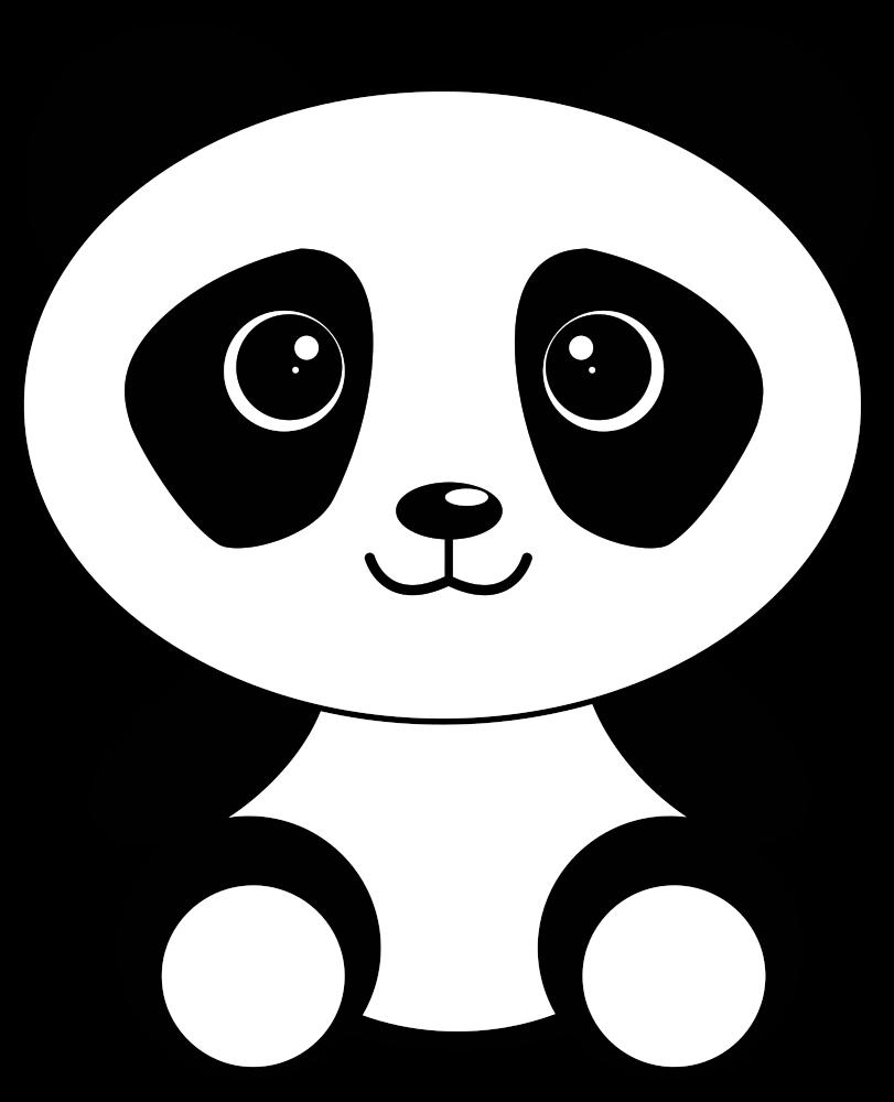 OnlineLabels Clip Art - Cute Cartoon Panda