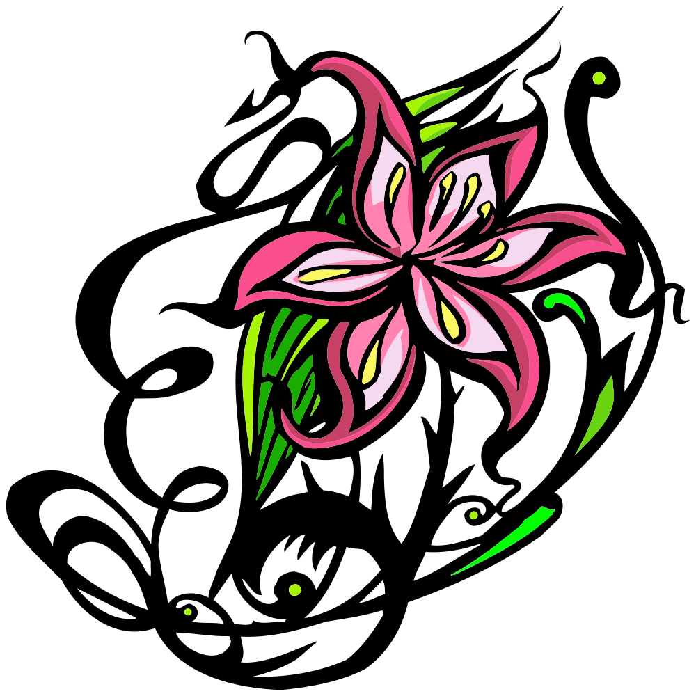 OnlineLabels Clip Art - Decorative Flowers 2