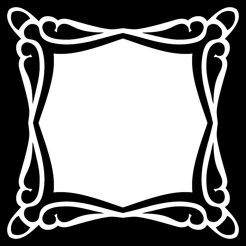 OnlineLabels Clip Art - Decorative Frame 7