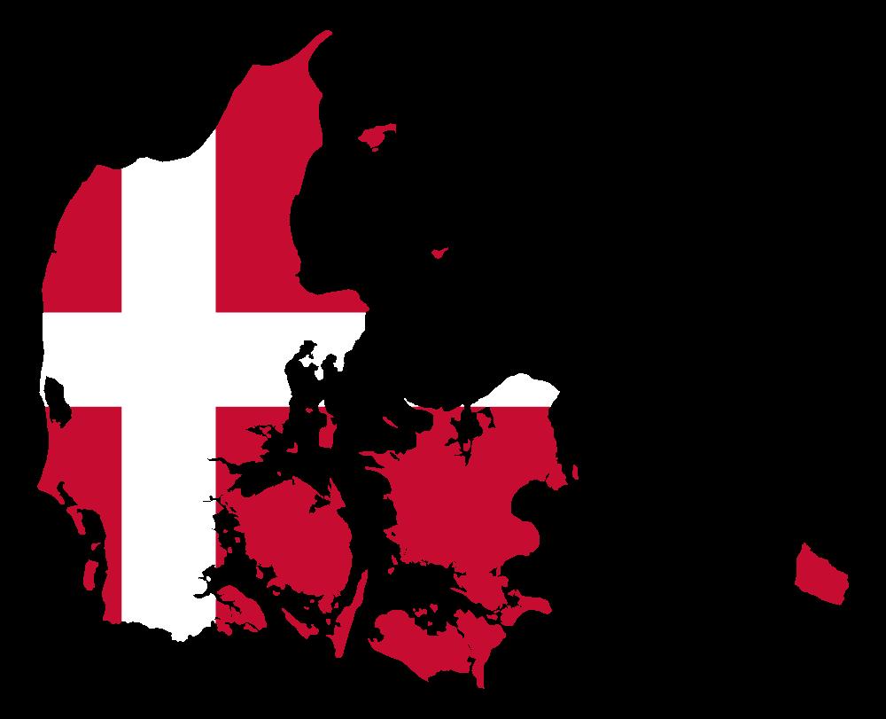 OnlineLabels Clip Art - Denmark Map Flag