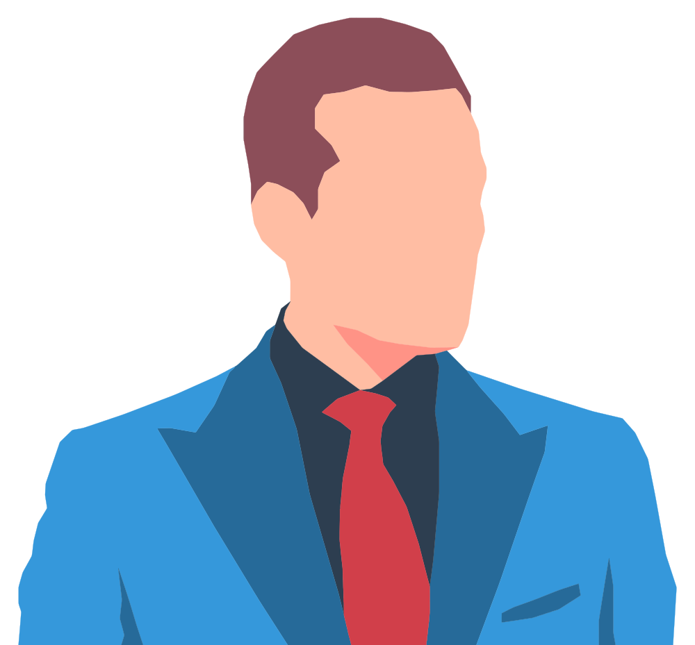 Faceless Male Avatar In Suit