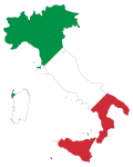 Italy Map Flag With Stroke