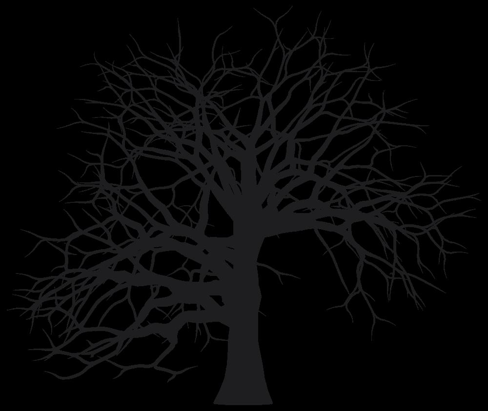 OnlineLabels Clip Art - Leafless Tree Silhouette