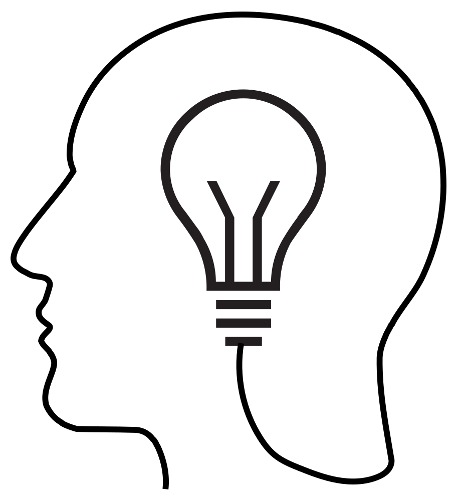 Light bulb silhouette. Onlinelabels clip art man