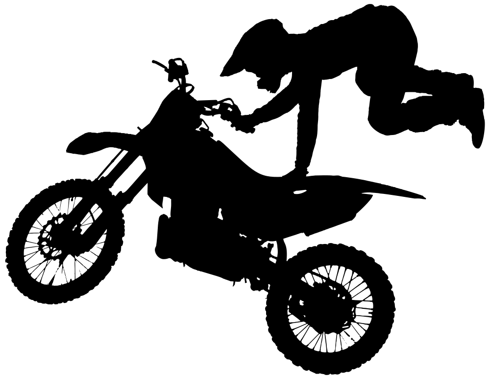 onlinelabels clip art motocross stunt silhouette 4