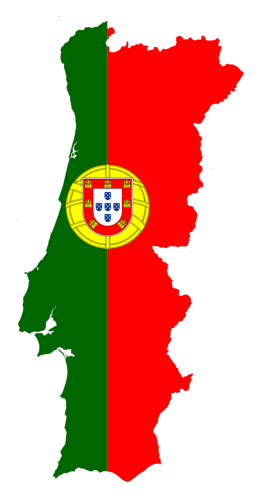 OnlineLabels Clip Art Portugal Map Flag - Portugal map flag