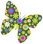 Retro Floral Butterfly