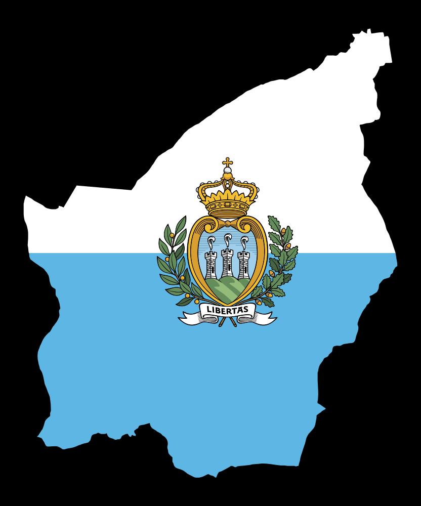 Onlinelabels Clip Art San Marino Map Flag