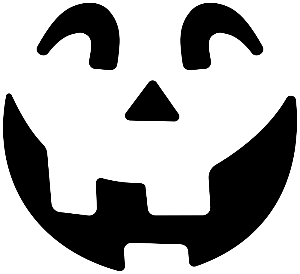 OnlineLabels Clip Art - Simple Jack O Lantern Silhouette (1000 x 913 Pixel)