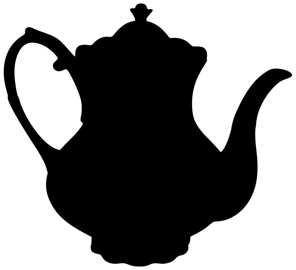 OnlineLabels Clip Art - Teapot Silhouette 2