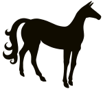 Vintage Stylized Horse Silhouette