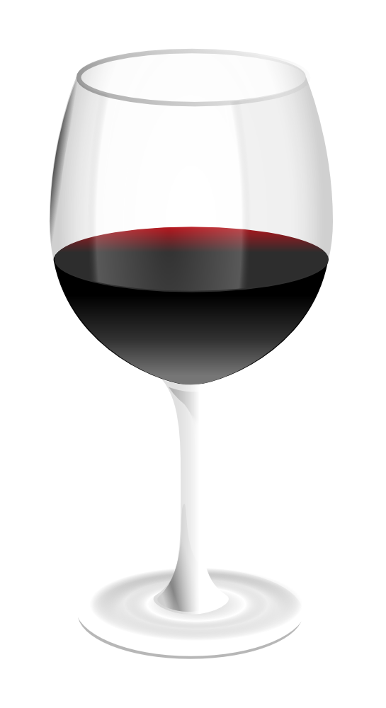 OnlineLabels Clip Art - Red Wine Glass