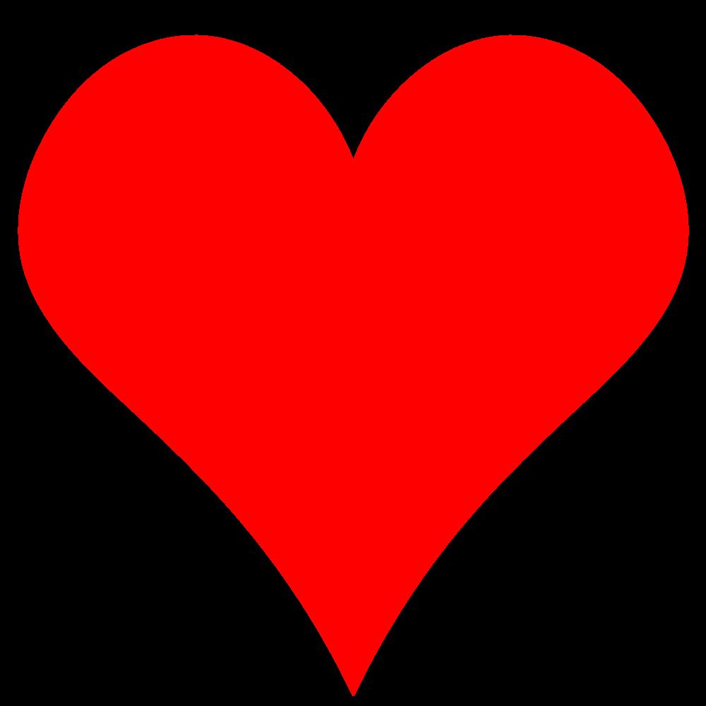 OnlineLabels Clip Art - Plain Red Heart Shape