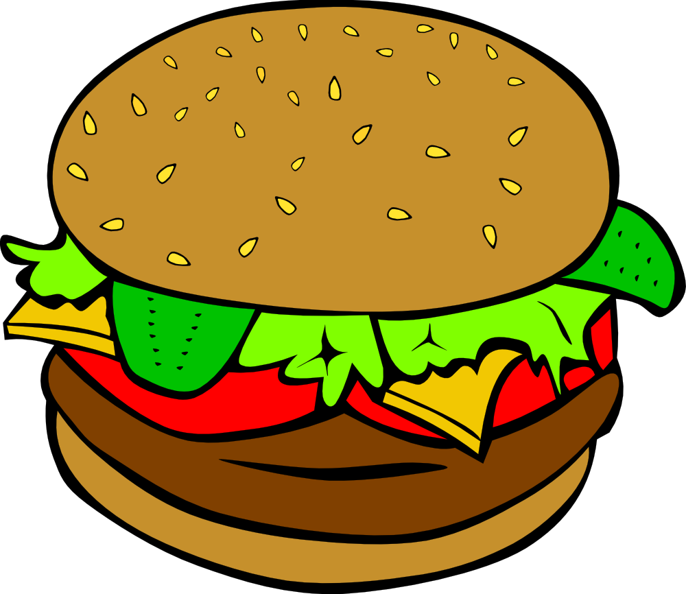 OnlineLabels Clip Art - Fast Food, Lunch-Dinner, Hamburger