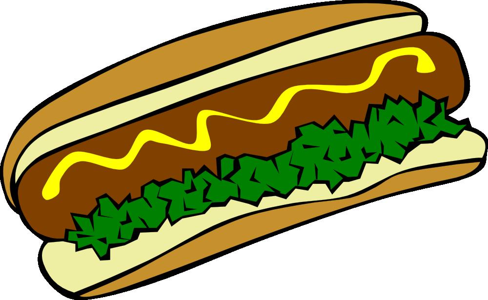 OnlineLabels Clip Art - Fast Food, Lunch-Dinner, Hot Dog Hamburger And Hot Dog Clip Art