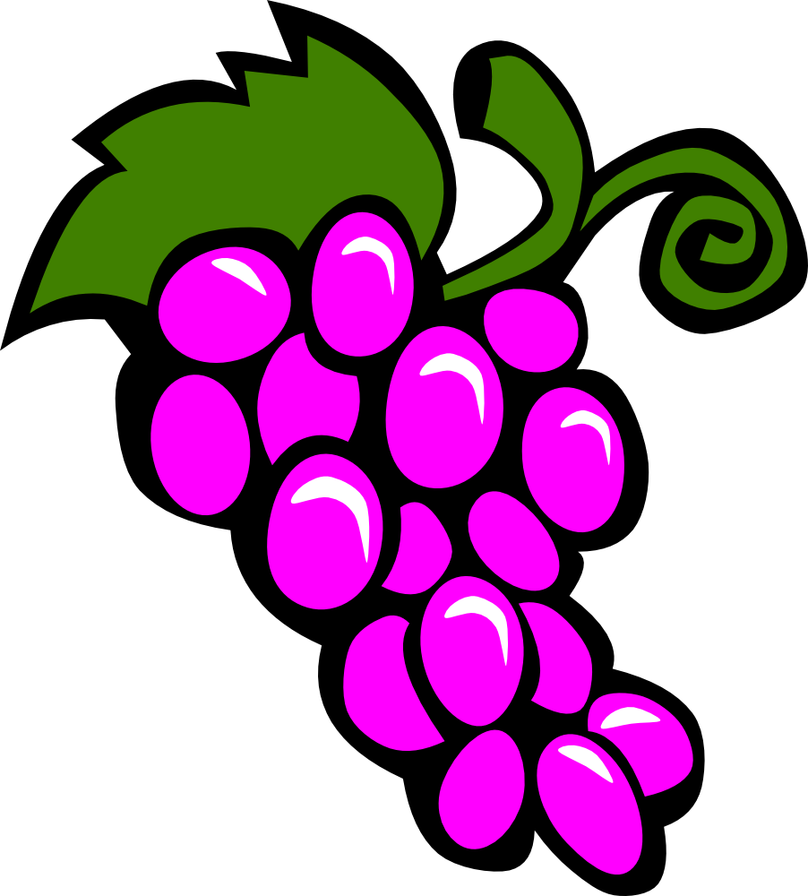 OnlineLabels Clip Art - Simple Fruit Grapes