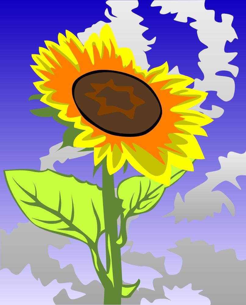 OnlineLabels Clip Art - Sunflower