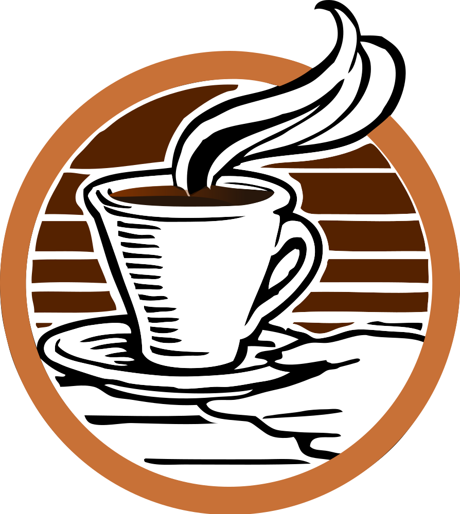 OnlineLabels Clip Art - Johnnys Cup Of Coffee Coloured
