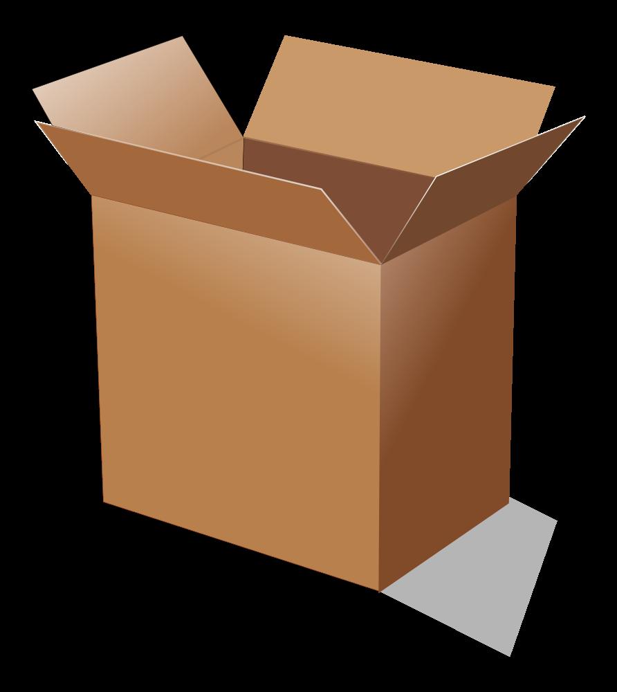 onlinelabels clip art open cardboard box. Black Bedroom Furniture Sets. Home Design Ideas