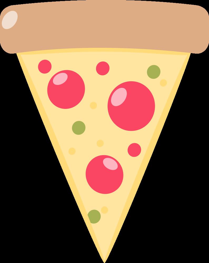 OnlineLabels Clip Art - Pizza Slice