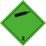 ADR pictogram 2.2-Non-toxic and non-flammable gases