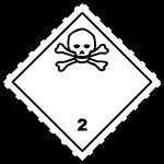 ADR pictogram 2.3-Poison gases