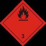 ADR pictogram 3-Flammable liquids