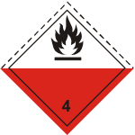 ADR pictogram 4.2-Spontaneously combustibles