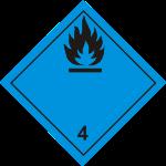 ADR pictogram 4.3-Dangerous when wet