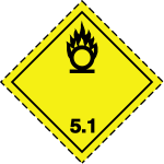 ADR pictogram 5.1-Oxidizers
