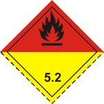 ADR pictogram 5.2-Organic peroxides