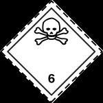ADR pictogram 6.1-Poison