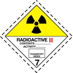 ADR pictogram 7b-Radioactive