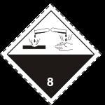 ADR pictogram 8-Corrosive